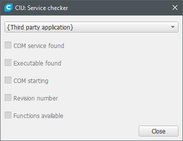 Screenshot of CAD Integration Utils' service checker